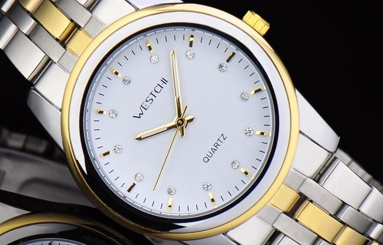 2016 новый дизайн WHESTCHI часы мужчин бренд новый роскошные часы круглый доля stainlee стали бизнес кварцевые наручные часы