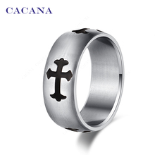Buy CACANA Stainless Steel Rings For Women Cross Symbol Stainless Steel Fashion Jewelry Wholesale NO.R33 for $1.04 in AliExpress store