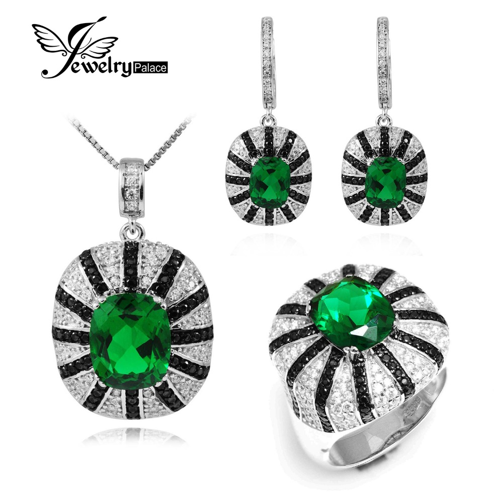 Finding The Right Jeweler For What You Want Nano-Russian-Emerald-Ring-Earring-Pendant-925-Sterling-Silver-Necklace-Chain-Spinel-Jewelry-Set-925-Sterling