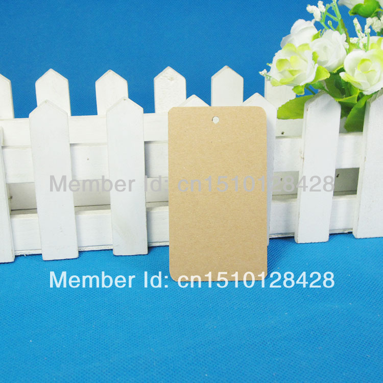 350GSM Rectangle Kraft Blank Hang tag,5x9cm Retro Gift tag, Table Number cards, 50 Tag - LAN Packaging & Printing store