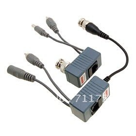10pairs X CCTV RJ45 Video Balun, with Audio, Video and Power over CAT5/5E/6 Cable
