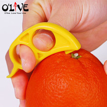 Plastic Orange Peelers Tools Zesters Opener Practical Lemon Slicer Fruit Stripper Knife Citrus Parer Kitchen Tools(China (Mainland))