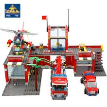 Building Blocks KAZI Original Technic Designer City Fire House Construction Scale Model toys for children lepin Compatible(China (Mainland))