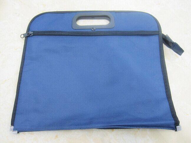 34*30cm Portable Oxford Cloth Double Zipper A4 File Folder Document Bag(China (Mainland))