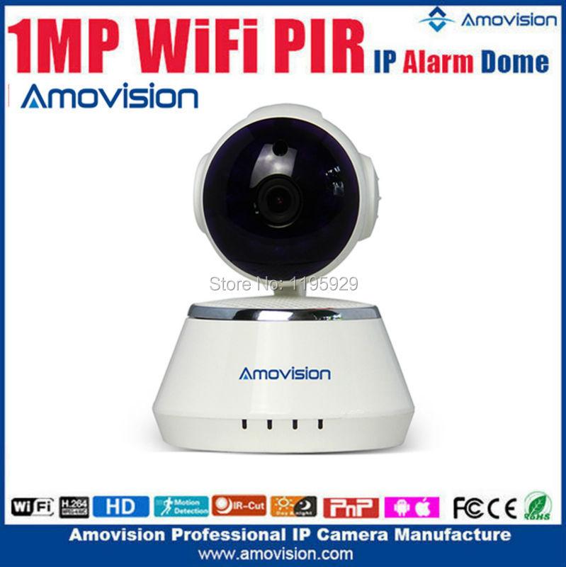Amovision 720p  wifi camera QF510support Micro SD PTZ Control two way audio IR night vision play&amp;plug alarm wireless ip camera<br><br>Aliexpress