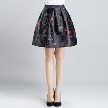 Buy plus size 2016 Spring Autumn High Waist Skirts Women Pleated Mini Skirt Female Casual Elastic Short Cotton Skirt WT7024 for $32.90 in AliExpress store