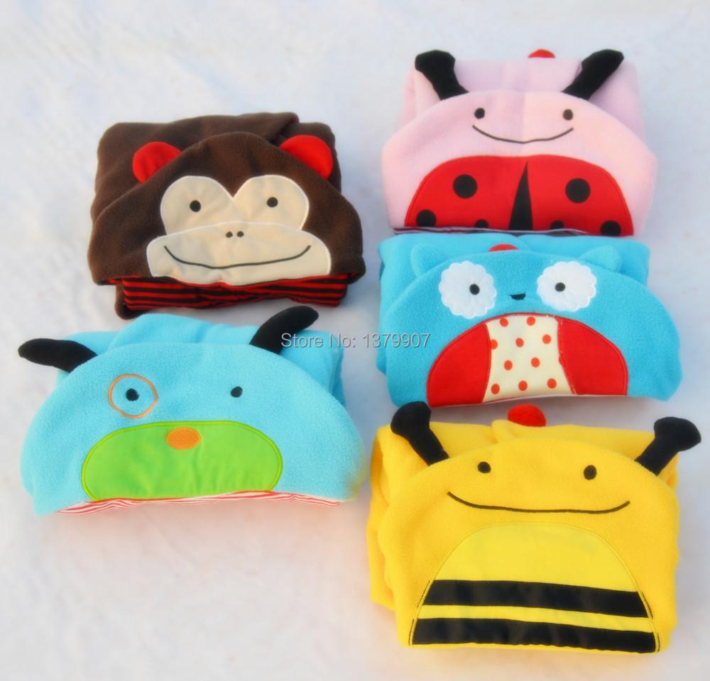 Baby Cartoon Blanket & Swaddling Flannel Cobertor zoo Animal Newborn Baby Cloak Kids Bedding Set Wrap Cuddle uppets Bolsas XF042(China (Mainland))