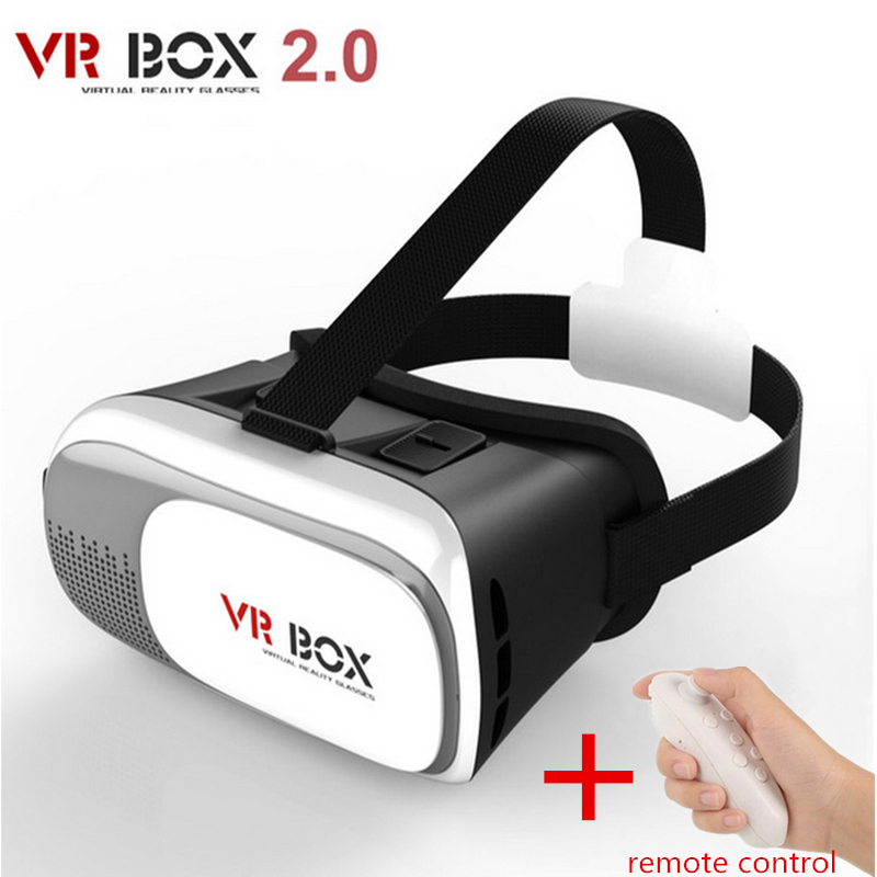 Hot Google Cardboard VR BOX II 2.0 Version VR Virtual Reality 3D Video Glasses for Iphone 3.5 -6.0 inch + Remote Control Gamepad(China (Mainland))