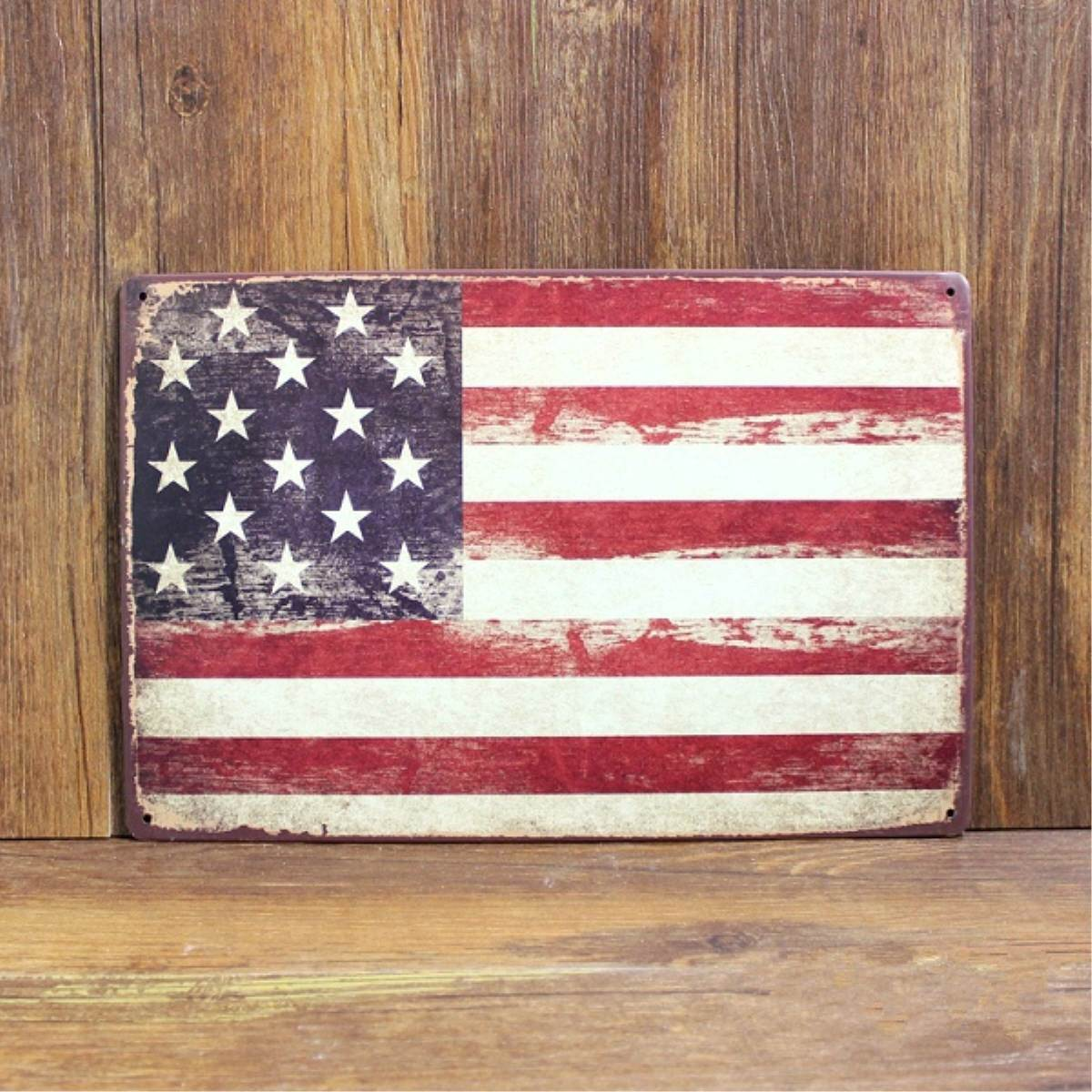 Plaque Tin Vintage USA UK Flag Sign Metal Painting Car License Plate Iron Antique Wall Decor Bar Pub Cafe Retro Poster(China (Mainland))