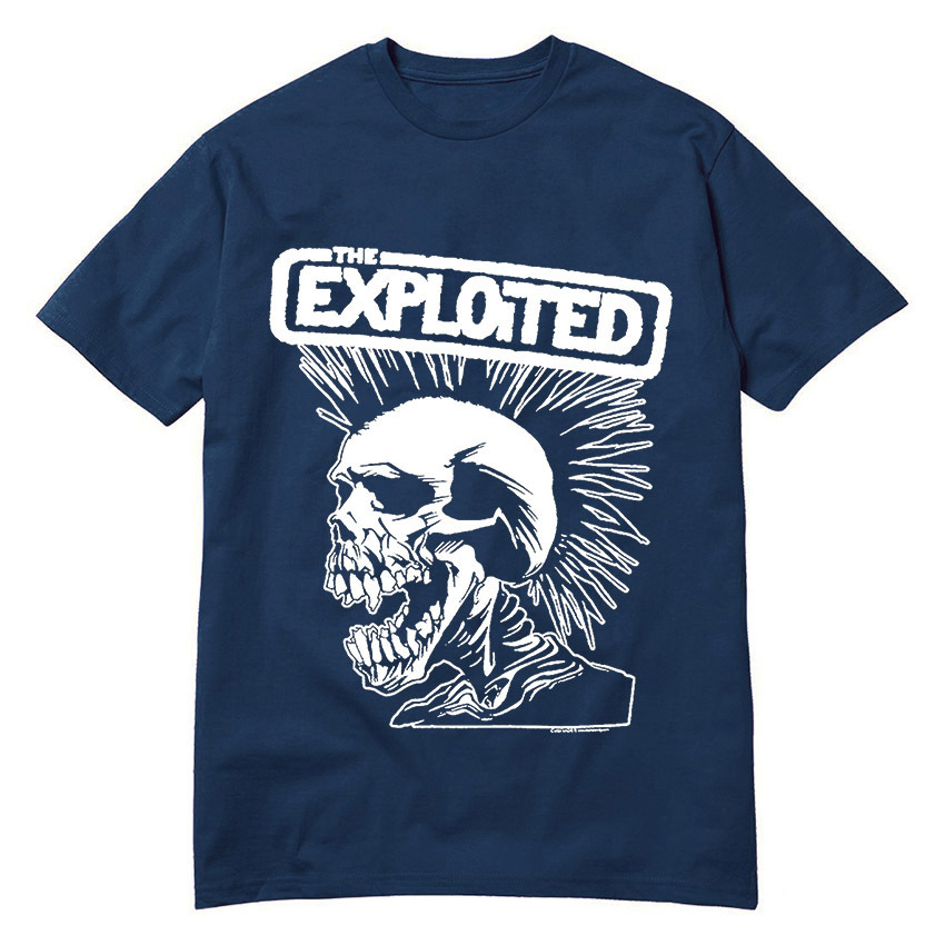 Hot New Fashion Men's T Shirts Punk Rock Band The Exploited Tee Round Top T-Shirt High Quality Low Price Swag Skull Camisetas(China (Mainland))