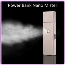 5PCS/Lot Free Shipping Mini USB Rechargeable Nano Handy Facial Mist Sprayer With Power Bank 4000mAh