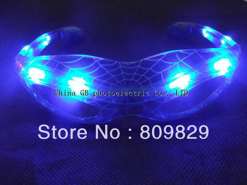! 12 Glowing Spiderman Mask Glasses Halloween LED Flashing Party Dancing - Yiwu GB photoelectric Co., LTD store