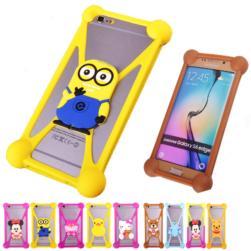 Anti knock TPU Phone Cases For Gionee P2S Rubber 3D Cartoon Case Cover For Gionee Elife S5.1 Minion Garfield Back Cellphone Case(China (Mainland))