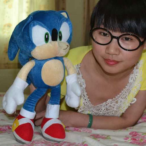 "Free Shipping 1Pc New 8"" 20cm Sonic the Hedgehog Stuffed Plush Doll Sonic Characters Figure Toy Brinquedos Doll(China (Mainland))"