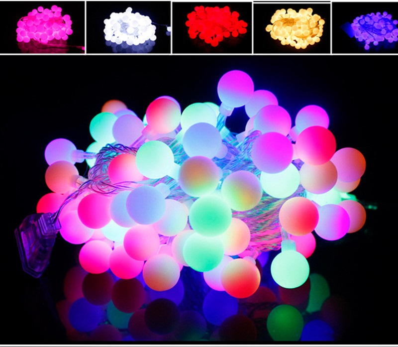 10M 100 LED string ball lights waterproof Fairy String Christmas Lights Outdoor for Weddings Natal Garden Holiday Decoration<br><br>Aliexpress