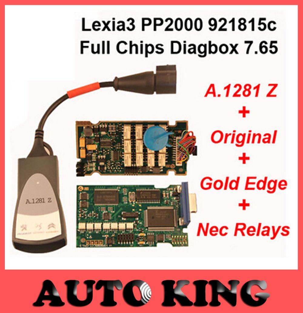 PP2000 V25 Lexia3 Lexia-3 V48 Diagbox 7.65 Serial 921815C With Original Full Chip Lexia 3 PP2000 Diagnostic Tool(China (Mainland))