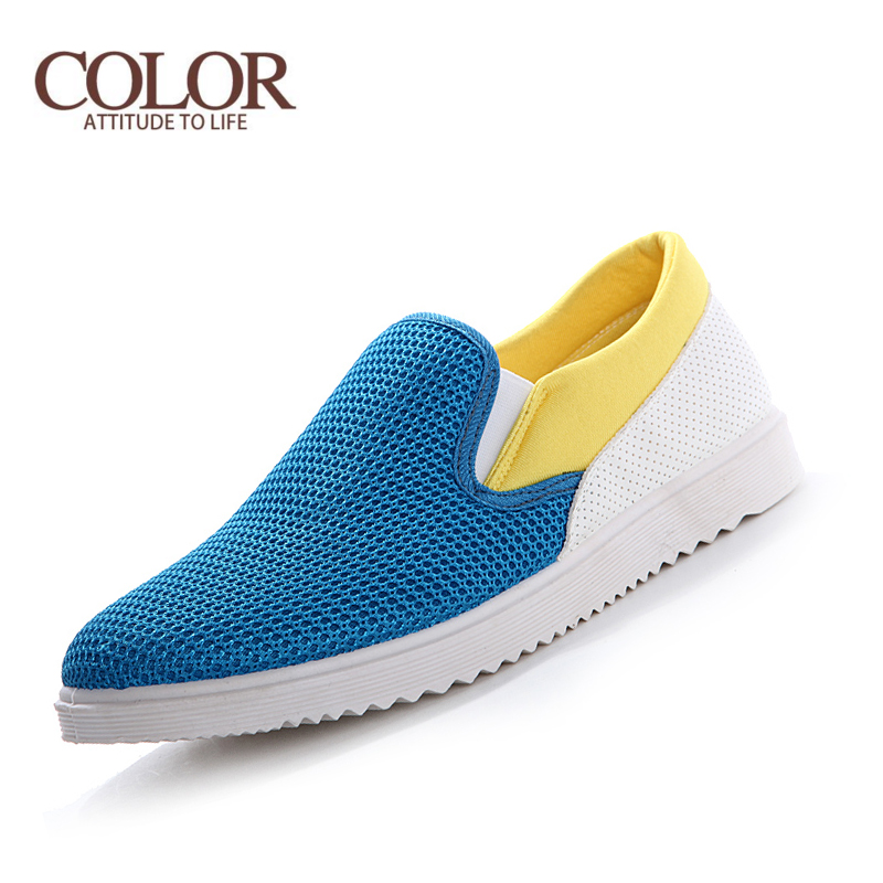 new 2016 summer casual mens shoes breathable slip on shoes