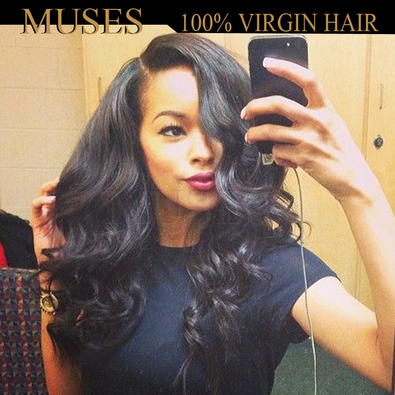 Brazilian Virgin Hair Lace Front Human Hair Wigs Body Wave Natural Black Glueless Full Lace Human Hair Wigs For Black Women(China (Mainland))