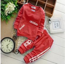Big Size (2-6T) Boys&Girls Korean fashion Autumn&winter Cotton Clothing set,Kids Long sleeve Clothes suit,Baby Boys clothes(China (Mainland))