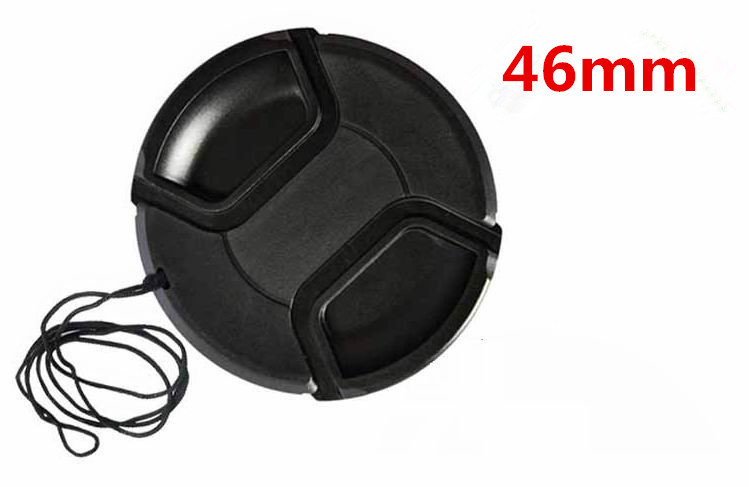 Free shipping 46mm center pinch Snap on cap cover for camera 46 mm Lens