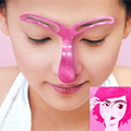 Perfect Eyebrow Grooming Stencil Eyebrow Shaping Card Thrush Pierced Perspective Eye Brow Guide Tool Plastic Model