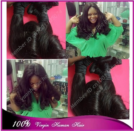 Best 7a quality 3pcs/lot 1b# russian bouncy curl virgin pure funmi hair weft for black women free shipping<br><br>Aliexpress