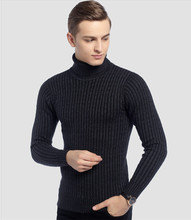 Free shipping Men's Winter thickening turtleneck sweater basic men's thermal tight sweaters(China (Mainland))