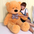 Birthday gift girls large giant plush teddy bear doll wedding gift straight length 120cm