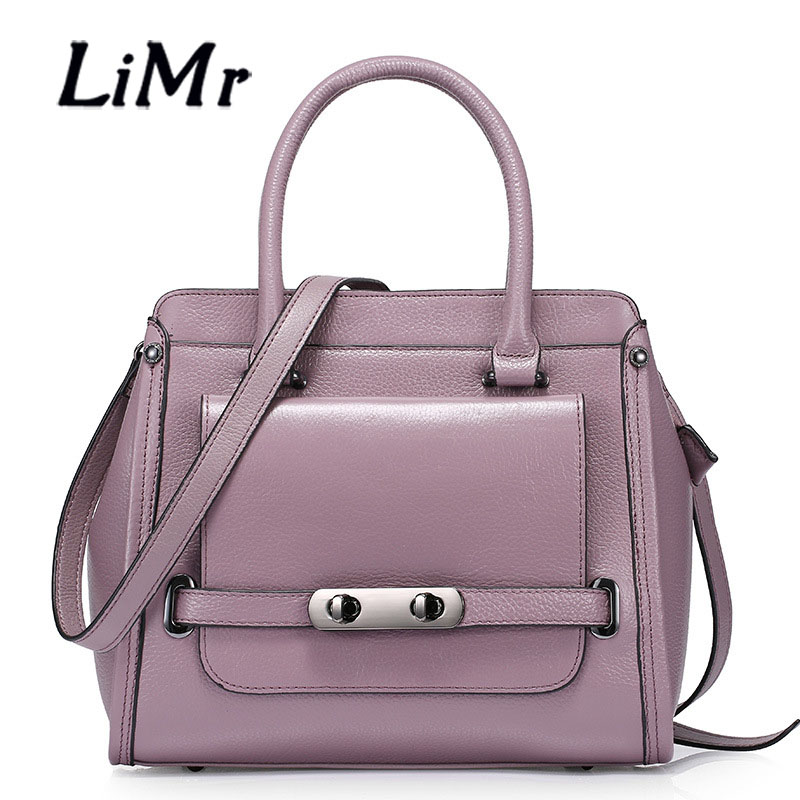 LiMr Platinum Bags New Fashioin Genuine Leather Women Handbag Solid Embossed Top Layer Cowhide Leather Bolsa Lady Motorcycle Bag<br><br>Aliexpress