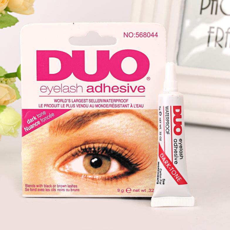 False Eyelash glue magic beauty anti-sensitive, DUO Eyelash glue adhesive vinyl Free Shipping (black )(China (Mainland))