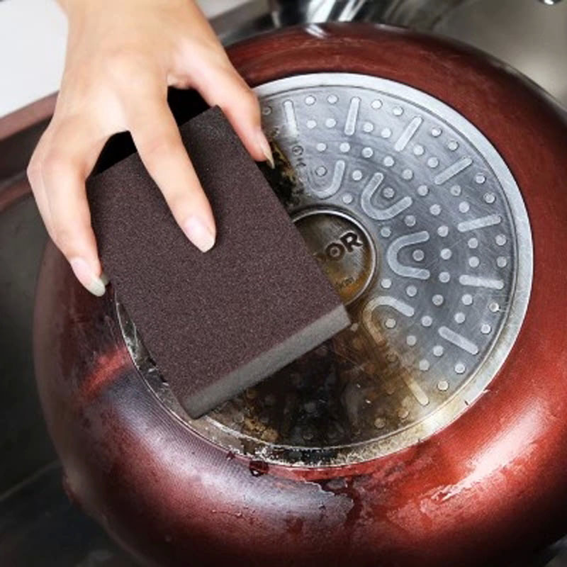 Hot Sale Sponge Kitchen Nano Emery Magic Clean Rub The Pot Except Rust Focal Stains Sponge(China (Mainland))
