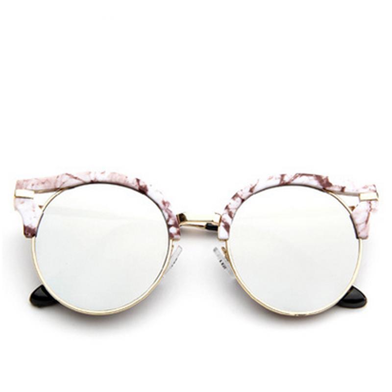 sunglasses hollow occhiali da sole zonnebril cat eye round metal lunette de soleil femme women. Black Bedroom Furniture Sets. Home Design Ideas
