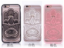 Hand pattern phone case for iphone6 6s 6plus 6s plus TPU+PC material Lace Flowers Cover