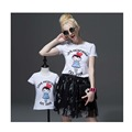 mother and daughter clothes Summer Family Matching t shirt Mother Kids Children Outfits New Cotton