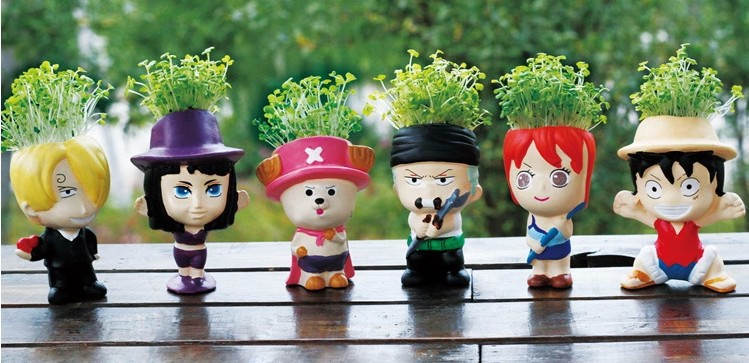 G27 indoor grass planted artificial Bonsai with refreshing function/novel plants with six shapes mixed order(China (Mainland))