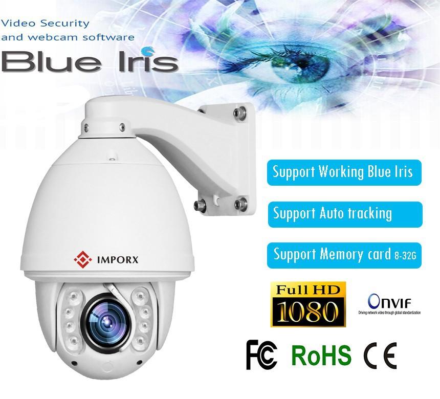 Support 64g blue IRis CCTV 1080P 2MP 20x Zoom auto tracking PTZ camera motion detection High Speed 150M ONVIF Network Ip Camera(China (Mainland))