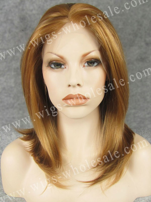 Straight   Synthetic  lace front wig   Discount  Vogue  brown<br><br>Aliexpress