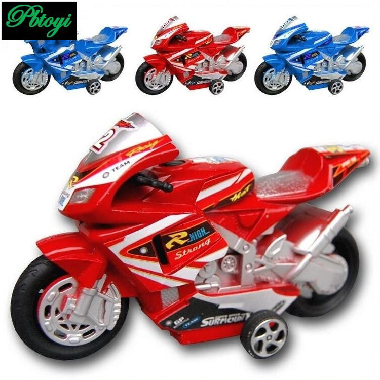 Mini motorcycle hot sale children eco friendly plastic toys wholesale handsome high simulation motorcycle toy PI0672(China (Mainland))