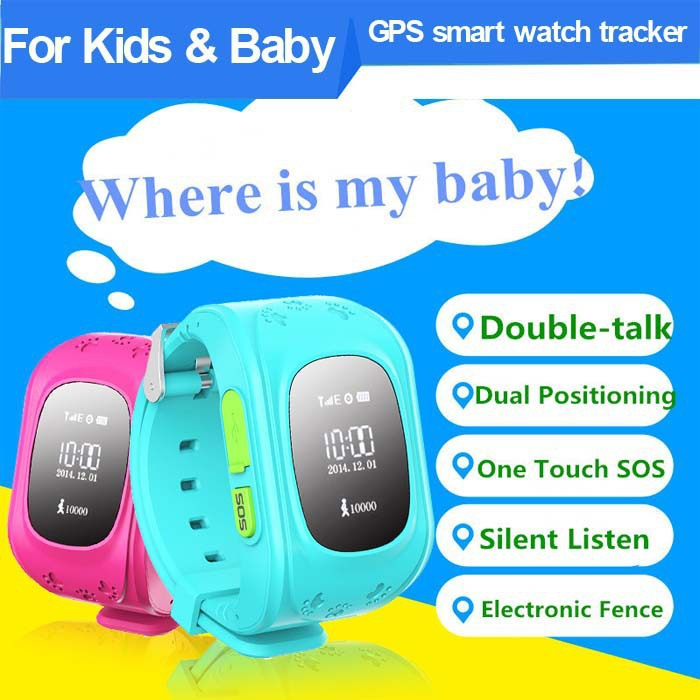 2015 New Product GPS smart watch tracker for kids BABY Children android ios call two-way Communication Positioning(China (Mainland))