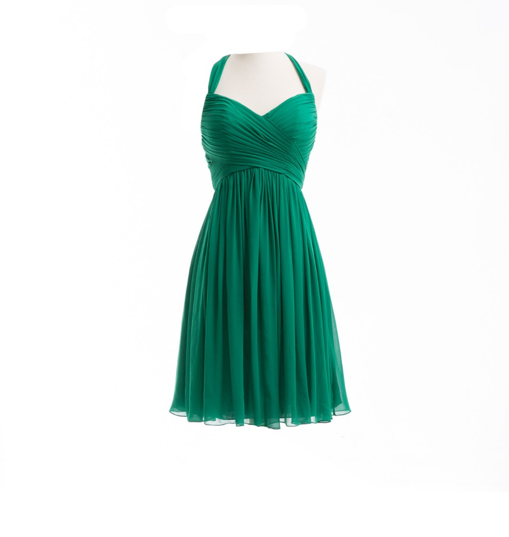 Popular halter top bridesmaid dress buy cheap halter top for Green beach wedding dresses