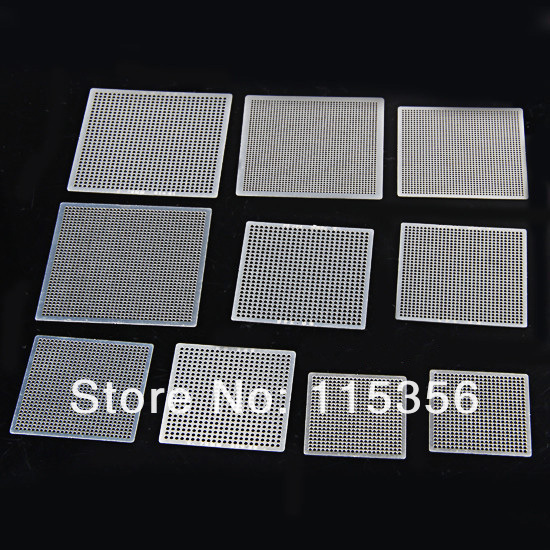 free shipping 2013 New completely set bga reballing kit 27pcs heat directly Universal BGA stencils chip template