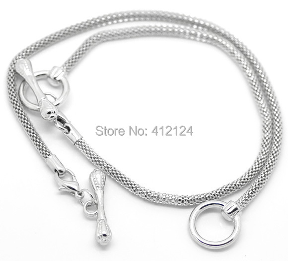 60Pcs Toggle Clasp Charm Bracelets Silver Tone New DIY Fit European Beads Jewelry Findings 22cm(8-5/8)<br><br>Aliexpress