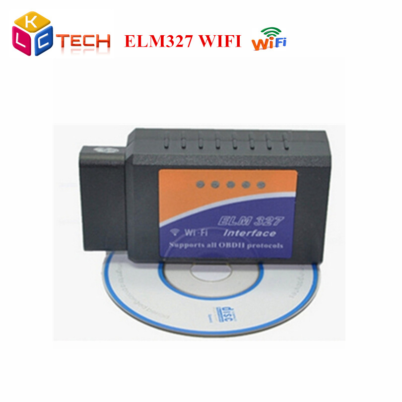 2016 Best Quality Newest ELM 327 WIFI Scanner OBD II OBD2 Auto Diagnostic Tool ELM327 Support IOS Android - Sunshine Technology Co.,Ltd... store
