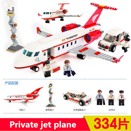 With Original Box 334PCS Private jet business airplane model enlighten Building blocks educational toys; Compatible With Lego(China (Mainland))