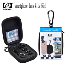 Buy APEXEL smartphone Lens Kits 5in1 iPhone xiaomi HTC HUAWEI Samsung Galaxy S7/S7 Edge S6/S6 Edge Android Smart Phone for $10.23 in AliExpress store