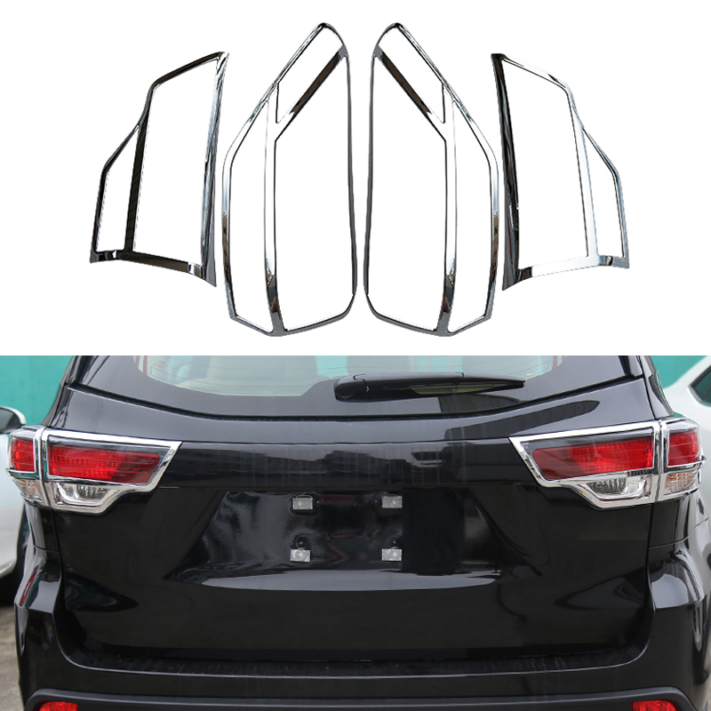 4  Pcs/Set Car Styling Rear Light Protection Cover For Toyota Highlander 2014 2015 ABS Auto Trim Decoration Accessories<br><br>Aliexpress