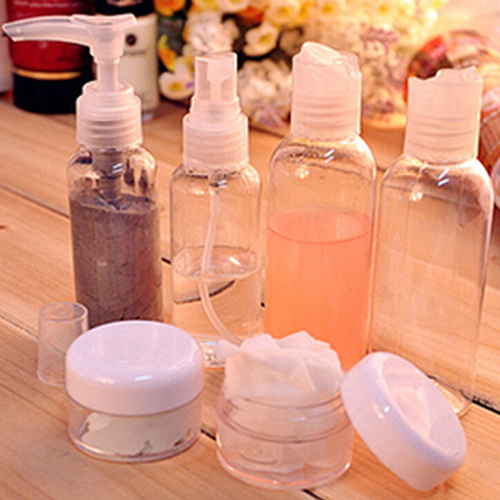 6Pcs/Set Portable Transparent Outdoor Travel Wash Cosmetic Perfume Spray Bottle 9XWB(China (Mainland))