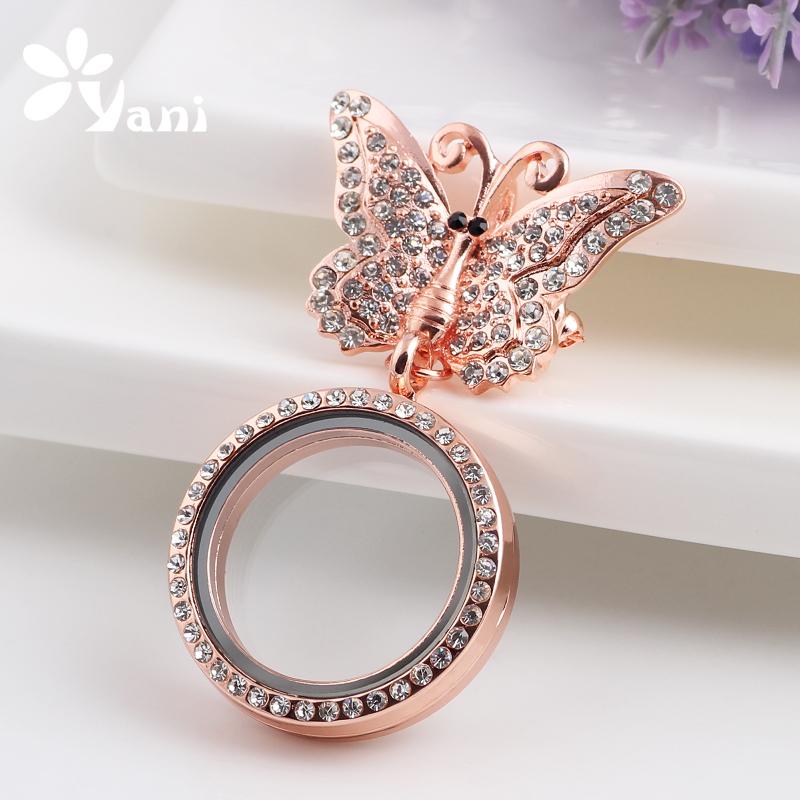 10pcs/lot Yiwu Wholesale Alloy Rhinestone Little Butterfly Brooch With Floating Glass Locket For Women BB010#<br><br>Aliexpress