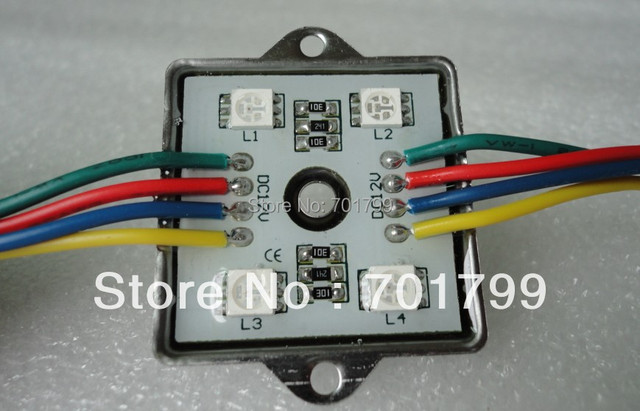 promotion!!!5050 SMD LED RGB module,DC12V input,with metal case,20pcs a string