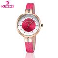 KEZZI Luxury Rose Gold Crystal Watch 2016 Fashion Women Leather Watch Ladies Dress Watch Casual Wristwatch